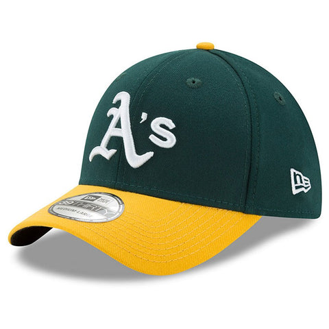 Men's Oakland Athletics New Era Green/Yellow MLB Team Classic 39THIRTY Flex Hat