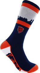 Chicago Bears For Bare Feet NFL Skyline Zoom Promo Men's Socks L(10-13) - Pro Jersey Sports
