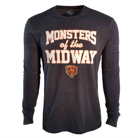 "Men's Chicago Bears Fall Navy ""Monsters of the Midway"" Regional Club Long Sleeve Tee"