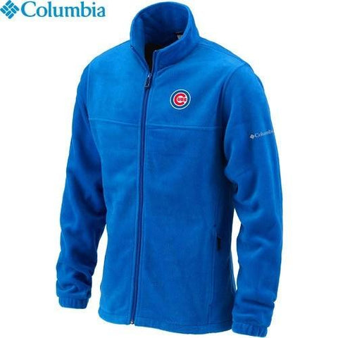 Men's Chicago Cubs Flanker Fleece Jacket by Columbia Sportswear-Royal