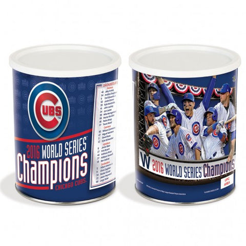 WORLD SERIES CHAMPIONS CHICAGO CUBS GIFT TIN 1 GALLON MULTI PLAYER - Pro Jersey Sports