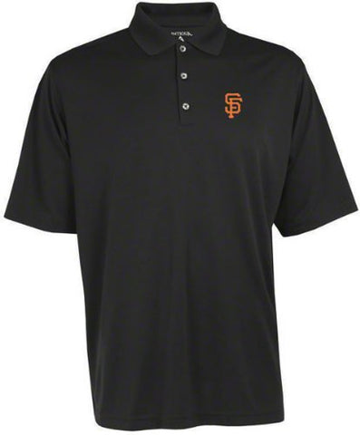 San Francisco Giants Black Pique Extra Light Polo Shirt