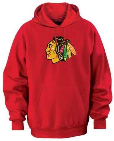 Majestic Chicago Blackhawks Athletic Red Tek Patch Hooded Sweatshirt