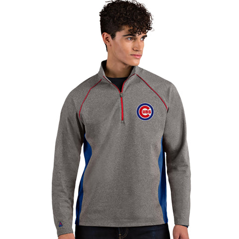 Mens Chicago Cubs Stamina 1/4 Zip Pullover By Antigua