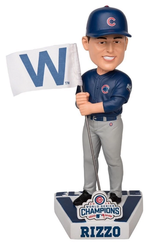 Chicago Cubs Anthony Rizzo 2016 World Series Champions Fly the W Flag Bobblehead
