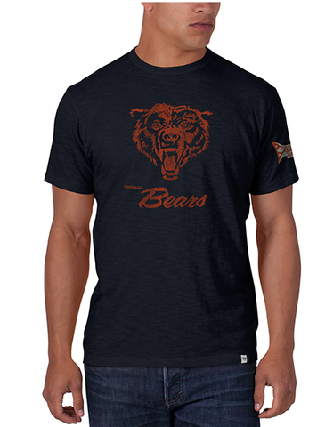 Chicago Bears Men's Legacy Retro Bear Logo Scrum Tee By '47 Brand