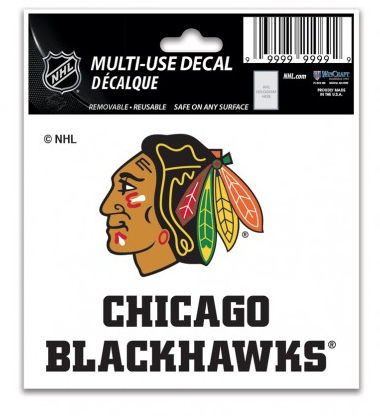 Chicago Blackhawks 3X4 Multi Use Decal By Wincraft
