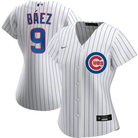 Women's Chicago Cubs Javier Baez Nike White Home Replica Player Jersey