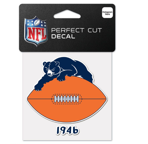 Chicago Bears 1946 Perfect Cut 4X4 Decal By Wincraft