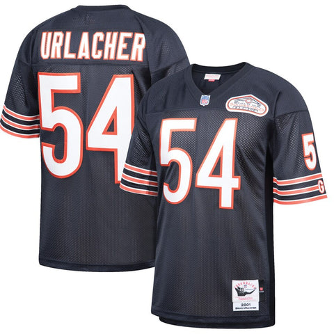 Brian Urlacher Chicago Bears Mitchell & Ness 2001 Authentic Retired Player Jersey - Navy