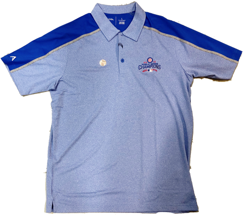 Antigua Mens Chicago Cubs World Series Champs Sustain Polo