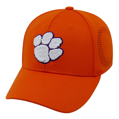 "Clemson Tigers NCAA TOW ""Rails"" Orange Stretch Fit Performance Mesh Hat"
