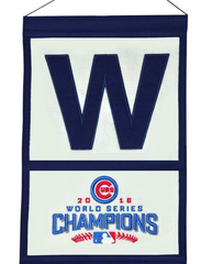 "2016 World Series Champions Chicago Cubs ""W"" Flag Traditions Banner By Winning Streak"