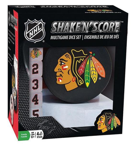 Chicago Blackhawks Shake n Score Dice Game