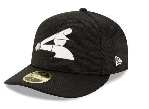 Men's Chicago White Sox Black New Era Low Profile On-Field Clubhouse Collection 59FIFTY Fitted Hat