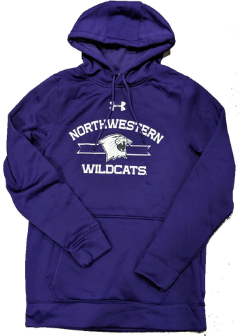 Men's Northwestern Wildcats Under Armour Armourfleece Storm Purple Hoodie