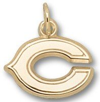 Chicago Bears Solid 14K Gold ''C'' 3/8'' Pendant