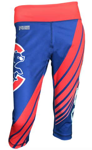 Women's Chicago Cubs AOP Sublimated Capri Leggings