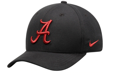 Alabama Crimson Tide Nike Black Classic Logo 99 Swoosh Performance Flex Hat