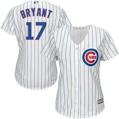 Women's Chicago Cubs Kris Bryant Majestic White Home Cool Base Player Jersey
