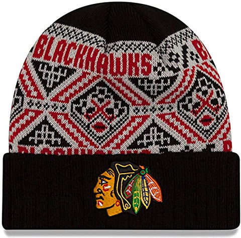 Chicago Blackhawks New Era Red Cozy Cuffed Knit Hat