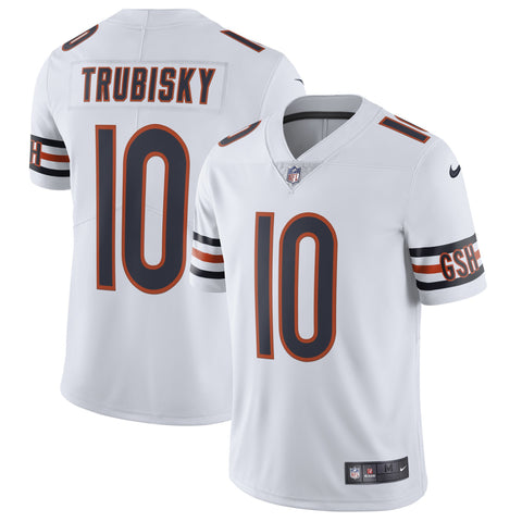 Men's Chicago Bears Mitchell Trubisky Nike White Vapor Untouchable Limited Jersey