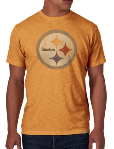 NFL Pittsburgh Steelers 47 Brand Mustard Yellow Soft Cotton Scrum T-Shirt