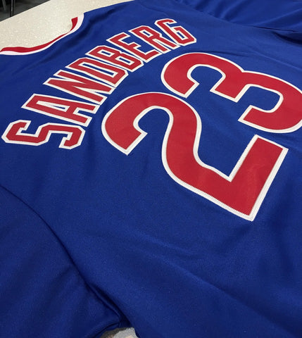 Men's Chicago Cubs 1984 Ryne Sandberg Road Collection Big & Tall Polyester Jersey