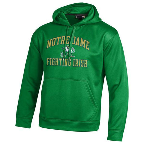 Under Armour Men's Notre Dame Fighting Irish Kelly Green Armourfleece Performance Hoodie