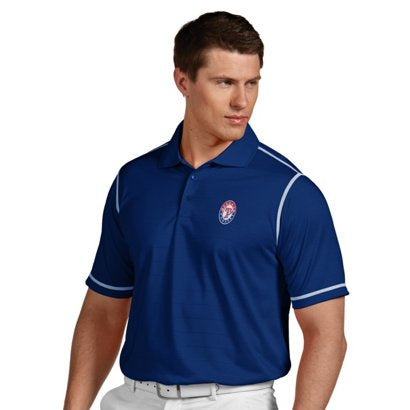 Antigua Men's Texas Rangers Royal Icon Performance Polo