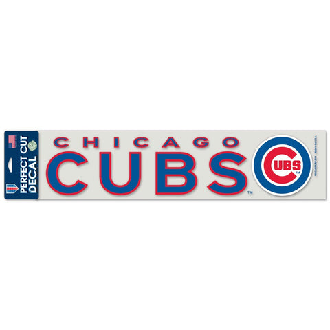 CHICAGO CUBS 4X17 PERFECT CUT DECAL - Pro Jersey Sports