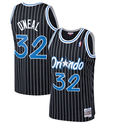 Men's Shaquille O'Neal Orlando Magic 1994-95 Black Swingman Replica Jersey By Mitchell & Ness