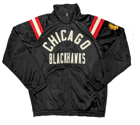 G-III Sports by Carl Banks Chicago Blackhawks Centerfield Track Jacket