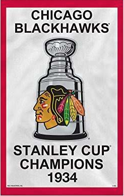 Chicago Blackhawks 1934 Stanley Cup Banner Pennant