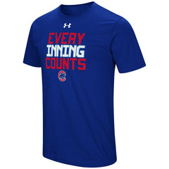 Men's Chicago Cubs Under Armour Heathered Royal Every Inning Counts T-Shirt