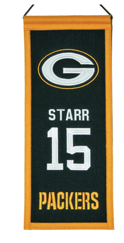 Bart Starr Green Bay Packers Legacy Banner By Winning Streak