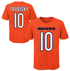 Youth Chicago Bears Mitchell Trubisky Nike Orange Player Game Team Name & Number T-Shirt
