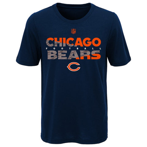 Chicago Bears Youth NFL Flux Dual Blend Short Sleeve T-Shirt