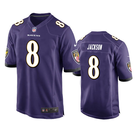 Youth Baltimore Ravens Lamar Jackson Nike Purple Game Jersey