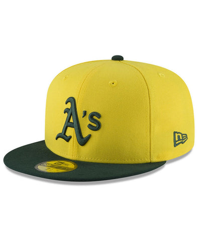 Men's Oakland Athletics Players Weekend 59FIFTY Yellow/Green Fitted Hat