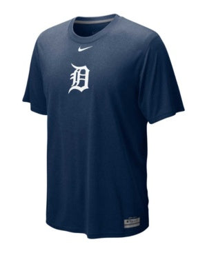 Nike Detroit Tigers Navy Blue Team Issue Legend Logo Performance T-shirt