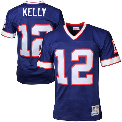 Mens Buffalo Bills Jim Kelly Mitchell & Ness Royal Blue Retired Player Vintage Replica Jersey