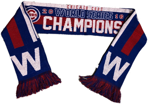 Chicago Cubs 2016 World Series Champions W Scarf