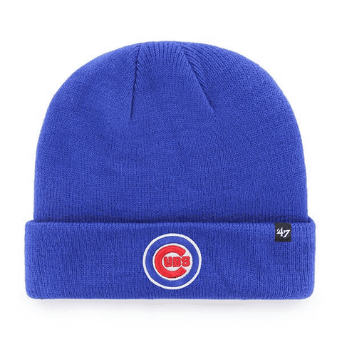 Chicago Cubs 47 Brand Blue Raised Cuff Knit Hat