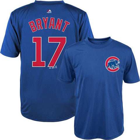 Youth Kris Bryant Chicago Cubs Synthetic Cool Base T-Shirt By Majestic