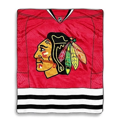 Chicago Blackhawks Jersey Mesh Raschel Throw Blanket