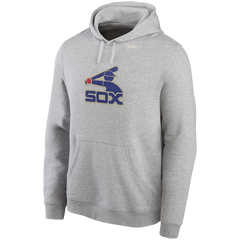 Men's MLB Chicago White Sox Cooperstown Collection 1983 Logo Gray Hoodie