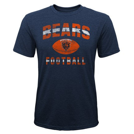 Youth Chicago Bears Big Game Short Sleeve Triblend Tee