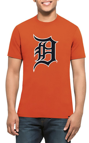 '47 Brand Men's Detroit Tigers Orange Primary Logo Club Tee