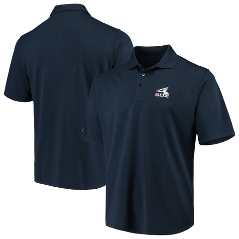 Antigua Chicago White Sox Navy Batterman Logo Pique Xtra Lite Polo